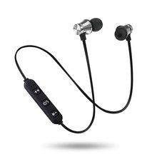 Bluetooth 5.0 neckband magnético fone de ouvido sem fio esportes fones estéreo música metal fones com microfone para smartphone