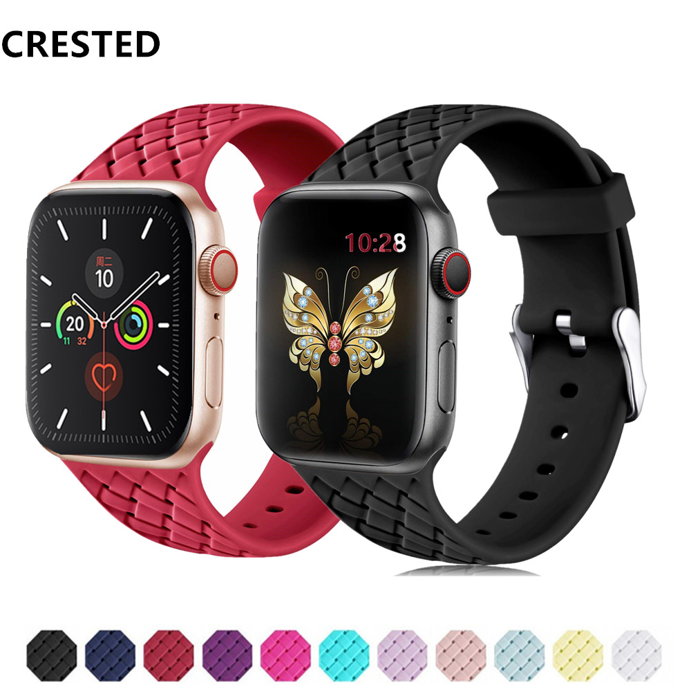 Silicone Strap For Apple Watch Band Apple Watch 5 4 3 Band 44mm 40mm Iwatch Band 5 42mm 38mm Pulseira Correa Bracelet Watchband