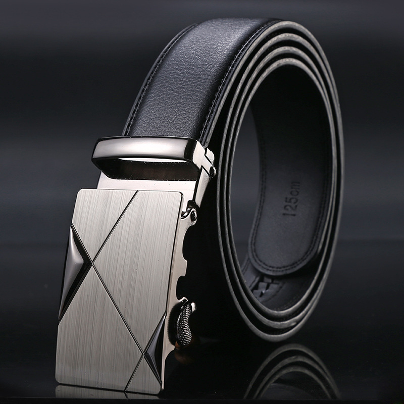Men's Fashion 100% Cow Genuine Leather Belts For Men High Quality Belt Automatic Buckle Strap Male