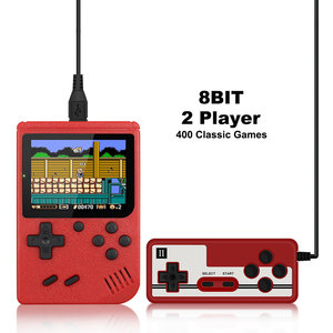 Image 2 - Retro Portable Mini Handheld Game Console 500mAh Battery 3.0 Inch Color LCD Kids Color Game Player Built in 400 Games