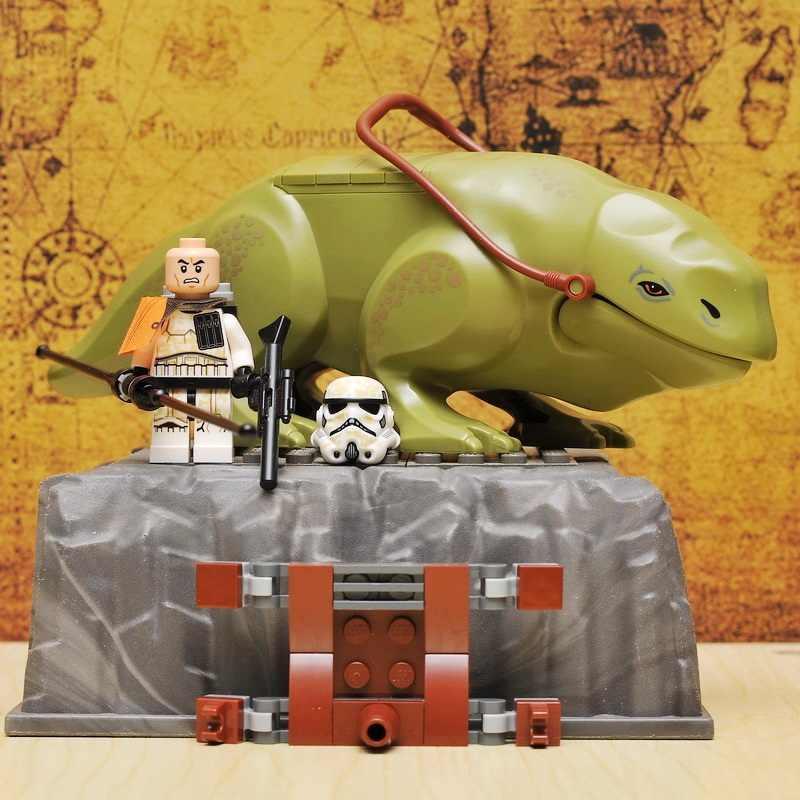 Звездные войны Dewback The Force Awakens прозрачный Штурмовик Legacy Jabba's Rancor фигурки блоки экшен Кирпичи игрушки для детей