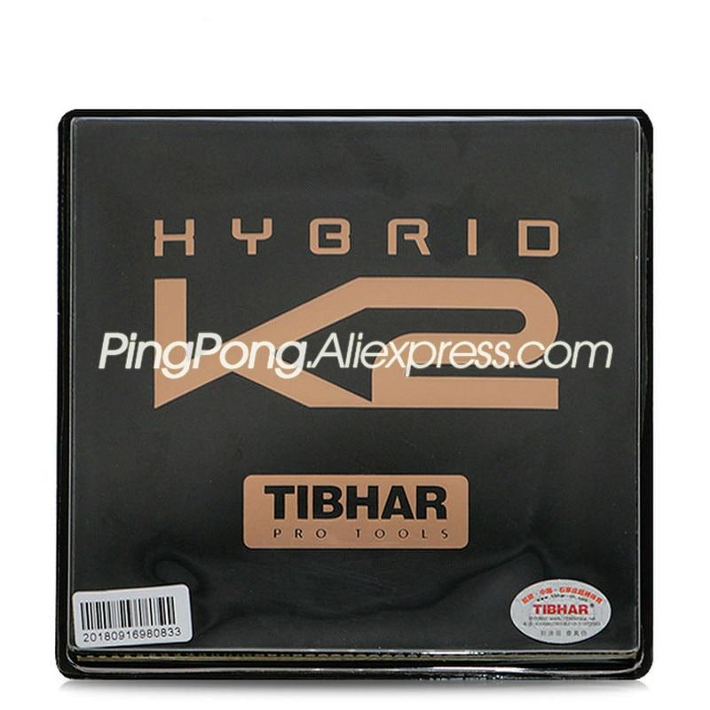 TIBHAR HYBRID K2 (Sticky Rubber + German Hard Sponge, Speed & Spin) Pips-in Table Tennis Rubber Ping Pong Sponge