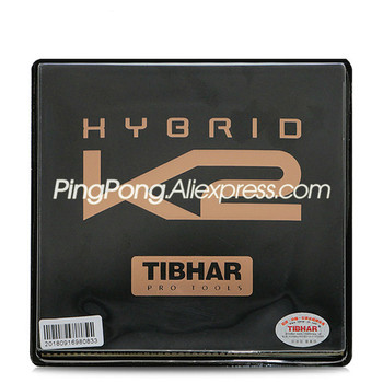 TIBHAR HYBRID K2 (Sticky rubber + German Hard Sponge, Speed & Spin) Pips-in Table Tennis Rubber Ping Pong Sponge - discount item  31% OFF Racquet Sports
