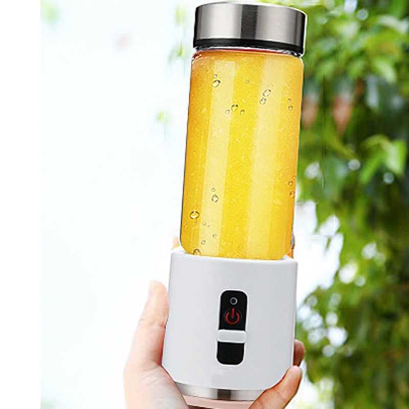 Usb recarregável smoothie liquidificador 380 ml de vidro smoothie liquidificador juicer fácil pequeno portátil liquidificador