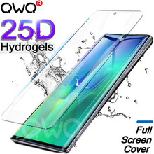 25D Screen Protector For Samsung Galaxy S10 S9 Plus Note 10 pro 9 8 Hydrogel For Samsung A50 S8 Plus A7 2018 soft Film not glass(China)