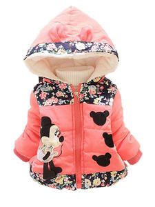 Winter Baby Jackets Clothing Outerwear Warm Toddler Infant Girls Boys Kids Minnie Hooded-Coats
