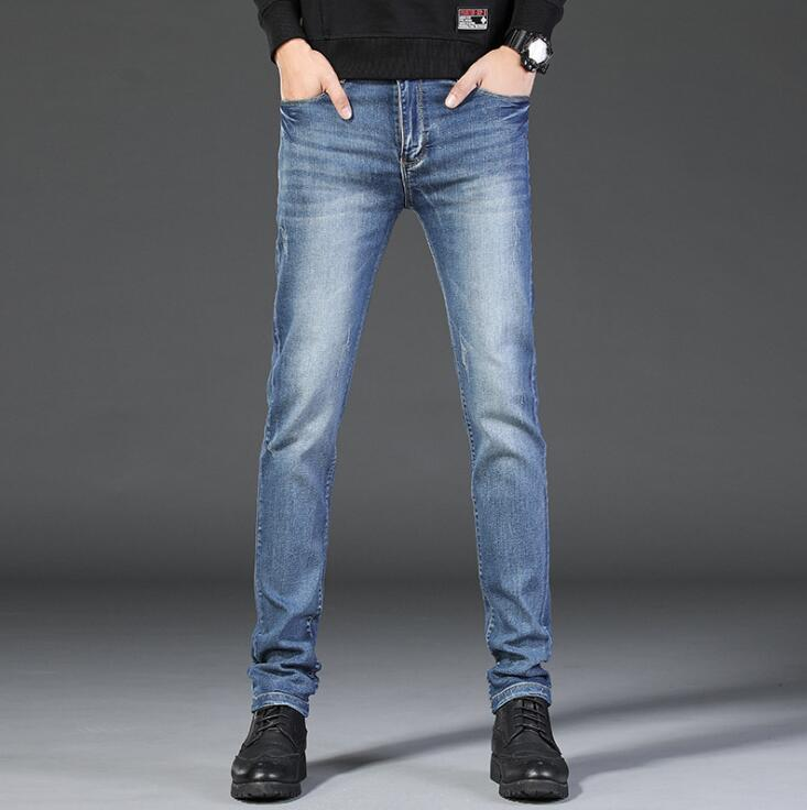 2019 Stylish Spring Fall Men Causal Jeans Hot Sales Stretch Trousers Male Free Shipping