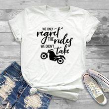Mulheres Apenas Lamentamos Os Passeios não Pegamos Tee Verão Floral de Algodão Soft Top Tripulação Pescoço Estética Streetwear T-Shirt