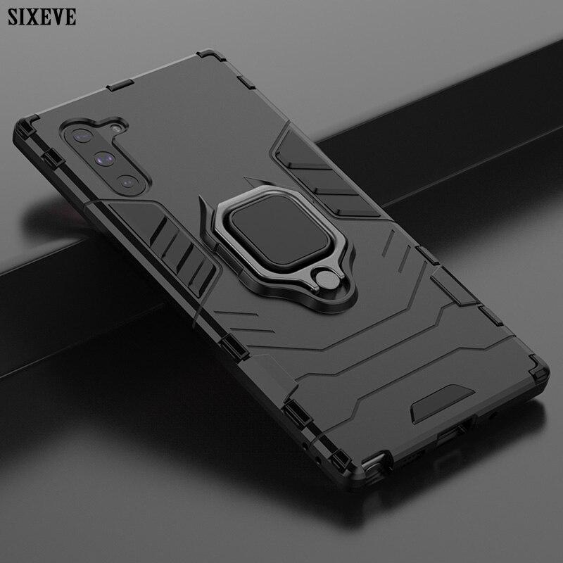 Luxo Anel Magnético Caso Do Carro Para Samsung Galaxy S8 S9 S10 Plus E Nota 9 10 Pro A7 A8 A9 2018 A10 A20 A30 A40 A50 M20 M30 Capa
