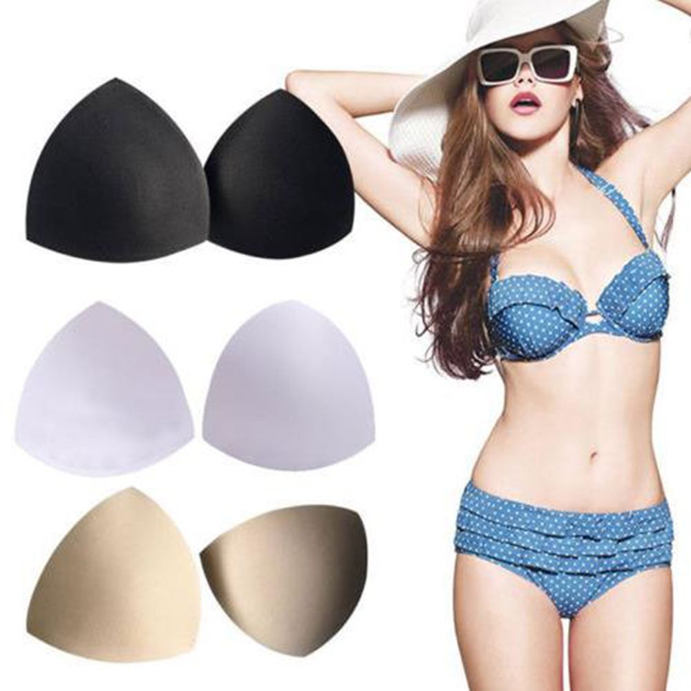 Bra Pad 1 Pair Sewing Insert Soft Sponge Cup Removable Padded 3 Colour For Bikini Padding Insert Bridal Bra Accessorries
