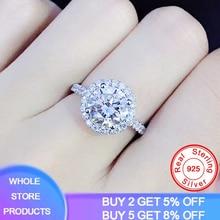 YANHUI Luxury 1 Carat Simulated Moissanite Rings for Women Zircon CZ Engagement Wedding Fine Jewelry 925 Sterling Silver Rings sumdex pon 302nv 1 для ноутбука 15 6
