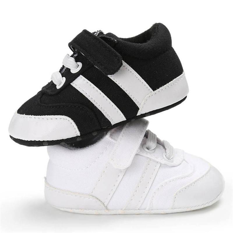 Bébé garçon chaussures toile classique noir blanc baskets décontractées premiers marcheurs enfant en bas âge en plein air infantile berceau chaussures unisexe