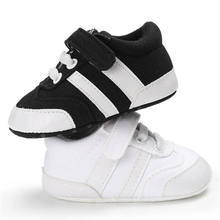 Baby Boy Shoes Canvas Classical Black Wh
