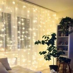 2X2/3X1/3x3/6x3 светодиодный светильник в виде сосульки Рождественская гирлянда со сказочными огнями открытый светодиодный для свадебной