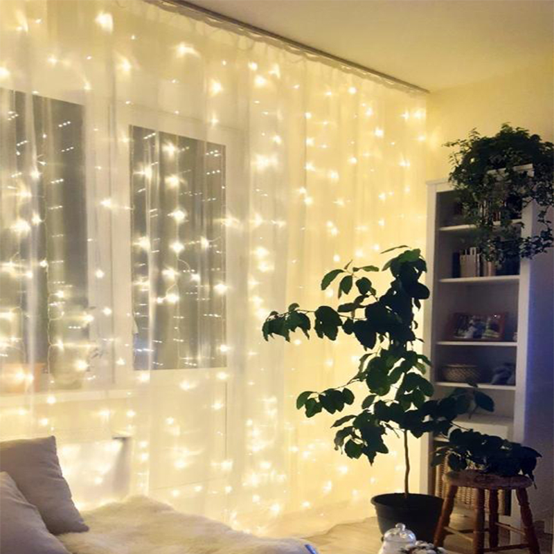 2X2/3X1/3x3/6x3 LED Icicle Fairy String <font><b>Light</b></font> Christmas LED Wedding Party Fairy <font><b>Lights</b></font> Garland <font><b>for</b></font> <font><b>Home</b></font> Curtain Window <font><b>Decor</b></font> image