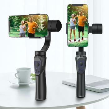 3-osiowy gimbal stabilizator ręczny telefon komórkowy nagrywania wideo Smartphone Gimbal dla kamera akcji telefon tanie i dobre opinie EKEN aparaty fotograficzne SMARTPHONES CN (pochodzenie) bluetooth Podręczny gimbal Tryb fotografowania 6 4 inch Z włókna węglowego