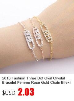 Islamic Jewelry Rose Gold Arabic Love Statement Bracelets For Women Men Pulseras Charm Crystal Bileklik Bracelet Femme Bff Gift