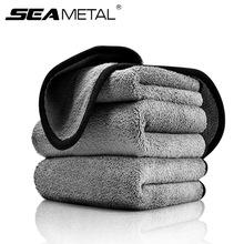 Czyszczenie samochodu szmaty do samochodów ręcznik z mikrofibry detale samochodów mycie tkanin z włókna pielęgnacja samochodów drzwi okno ręcznik do wycierania do Dropship tanie tanio SEAMETAL 75cm Polyester Gąbki Tkaniny i szczotki 0 16kg Car Detialing Cleaning Towels 35cm Car Wash Towel Microfiber Cloth