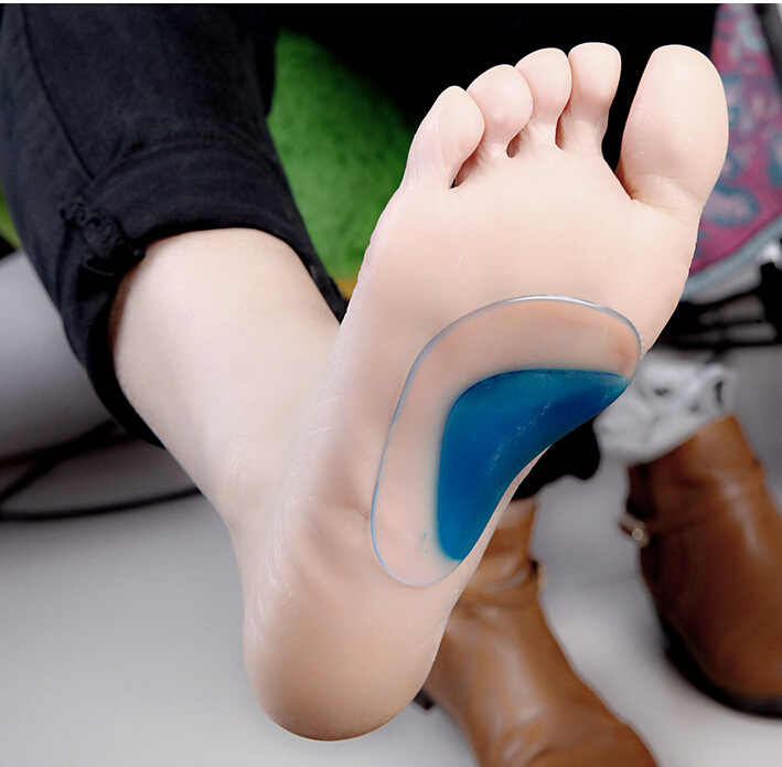 1 Pair Kid and adult Silicone Shoe Insole Orthotic Arch Support Flat Foot Flatfoot Corrector Hot Worldwide Sale Gel Insoles
