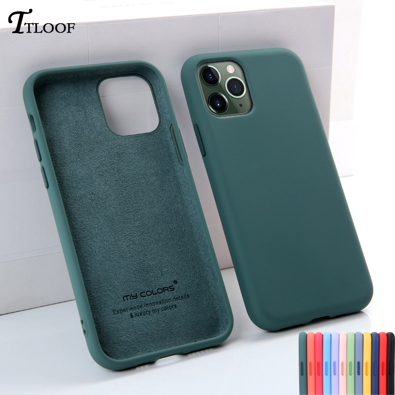 Official quality Soft Liquid Silicone phone <font><b>Case</b></font> For <font><b>iphone</b></font> 7 8 6 6s Plus 11 Pro MAX <font><b>X</b></font> XR <font><b>XS</b></font> Max <font><b>Case</b></font> shell <font><b>Original</b></font> Back Cover image