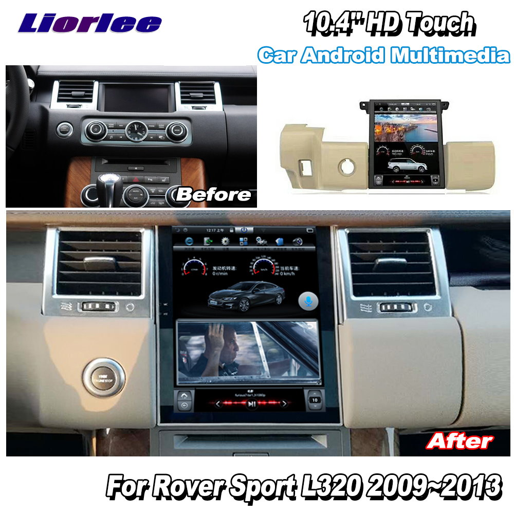 Liorlee For Range Rover Sport 2009 2013 Car Radio Android HD Screen GPS Navigation original style Multiemdia SystemCar Multimedia Player   -