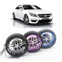 Car Pendant Ornaments Alloy Tyre Auto Interior Rearview Mirror Wheel Hub Flywheel Hanging Keychains For Accessories