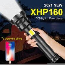 XHP160 – lampe torche tactique à Led COB 18650 ou 26650, alimentée par Usb, Rechargeable, idéale pour la chasse et le travail, XHP70.2