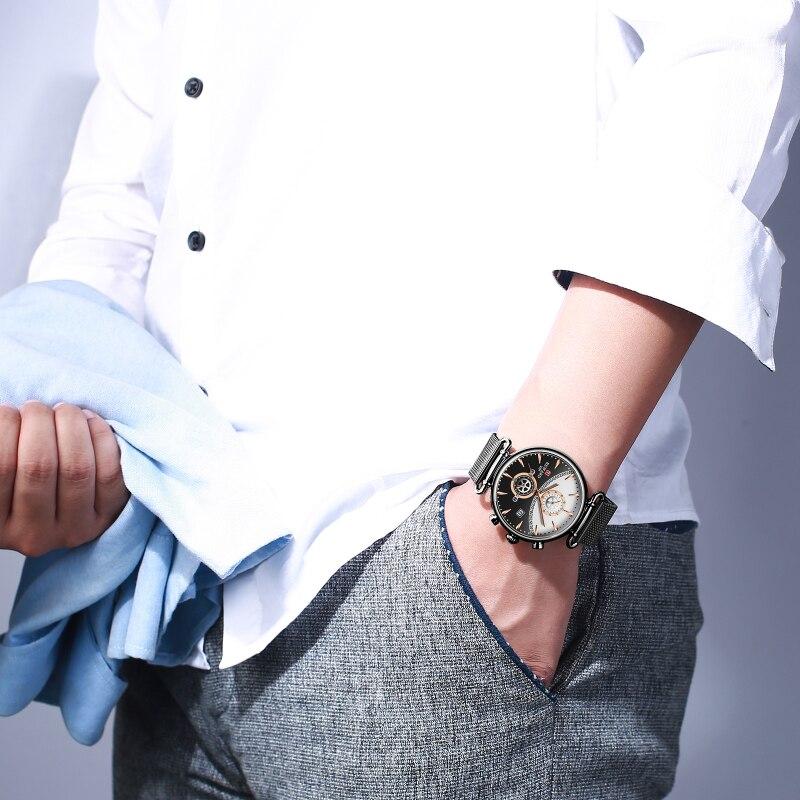 Image 5 - REWARD Chronograph Mens Watch Top Brand Luxury Military Sport Watches Fashion Stainless Steel Watch Men Clock Relogio MasculinoQuartz Watches   -