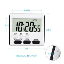 Alarm Digital-Timer Kitchen-Tools Loud-Clock Study Magnetic Sport Large Bbq-Cooking Count-Down-Up