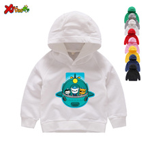2019 FUNNY Octonauts Print Hoodies Winter Cartoon Printed Sweatshirts Boys/ Girls 2 4 6 8 T Long Sleeves