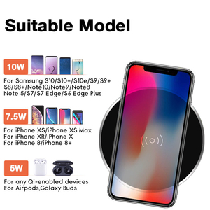 Image 2 - Universal Embedded Wireless Charger For IPhone 11 X 8 Samsung S10 Huawei Furniture Office Desktop Hidden Quick Phone Charger Pad