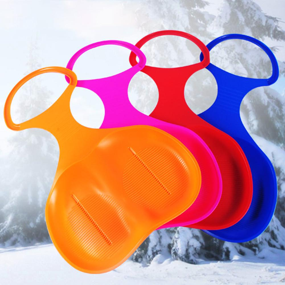 Outdoor Winter Sports Snow Skiing Pad Sled Sledge Skiing Board Outdoor Thicken Plastic Sand Grass Sleigh Slider Snow Luge