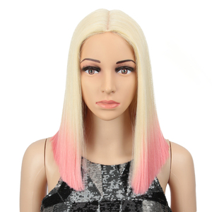 Magic Hair Synthetic Lace Front Wig Straight Hair 14 Inch Lace Wigs For Black Women Ombre Hair Synthetic Lace Front Wig