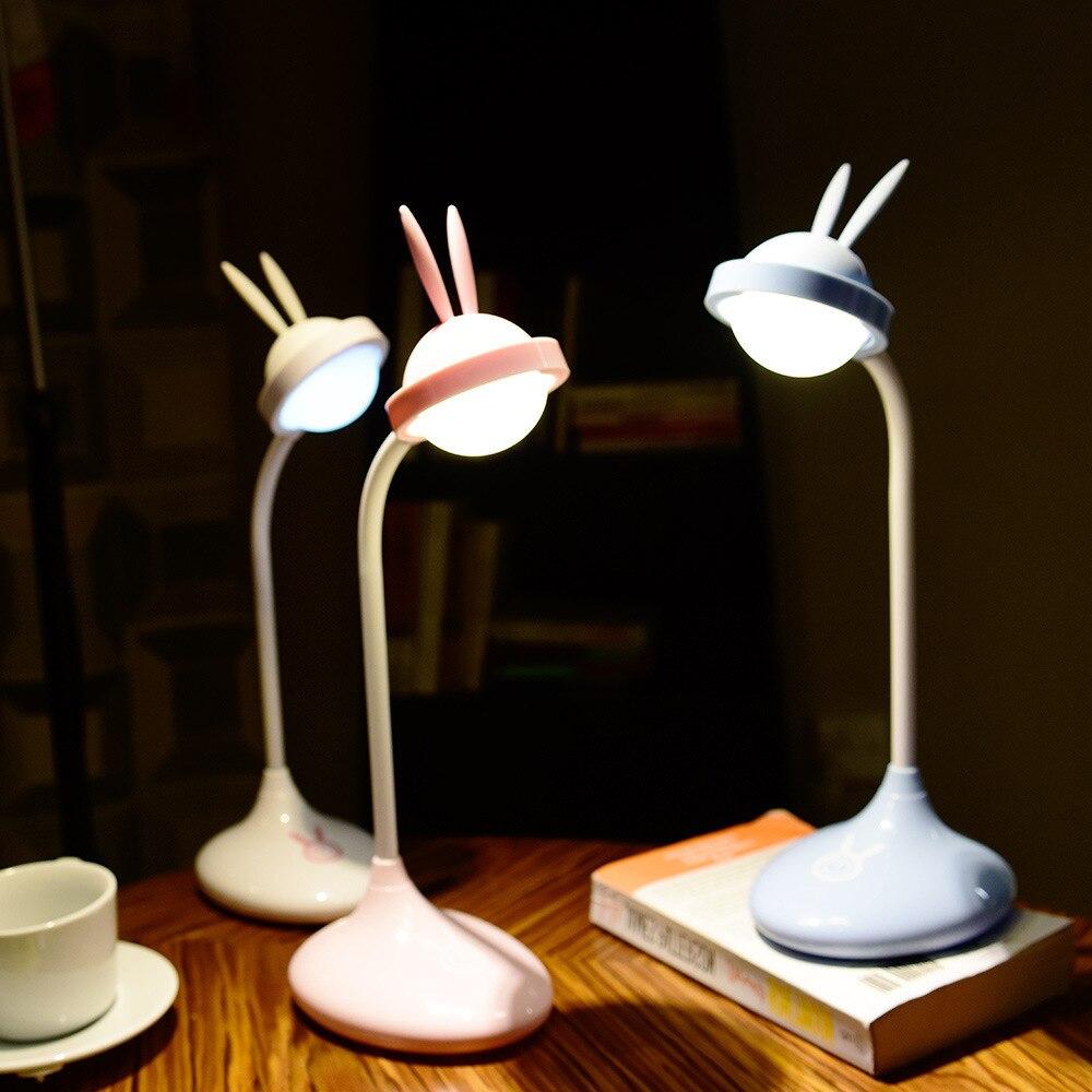 La nueva lámpara LED de escritorio táctil se puede doblar 90 grados, bonita luz nocturna de silicona con carga de conejo mascota Lámpara LED estrellado con Bluetooth para proyector de cielo nocturno, luz de estrella, Cosmos Master, batería de regalo para niños, batería USB, luz nocturna para niños