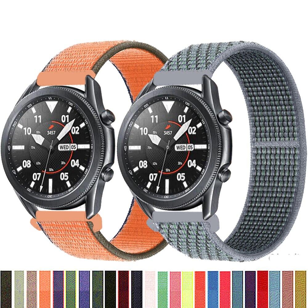 Ремешок 20 22 мм для часов Gear s3 Frontier, нейлоновый браслет для Galaxy watch 3 45 мм 41 мм 46 active 2 44 мм 40 мм huawei watch gt2e/2, 42