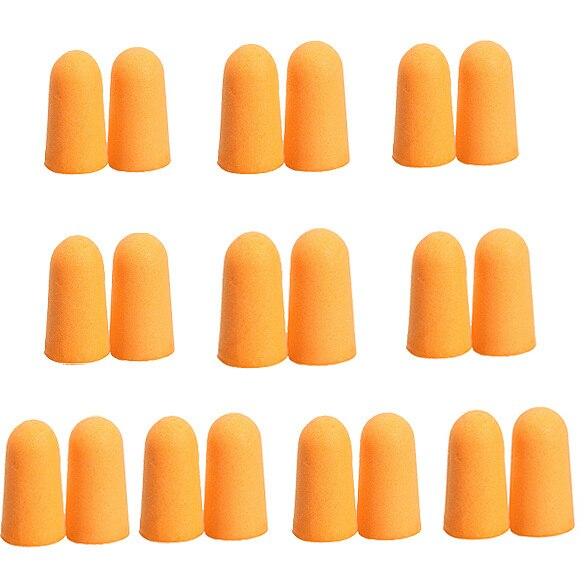 MOONBIFFY 10 пар мягких детских носков с оранжевый пены ухо Вилки коническая кисть для сна во время путешествий Шум предупреждение ухо Вилки Шум ...