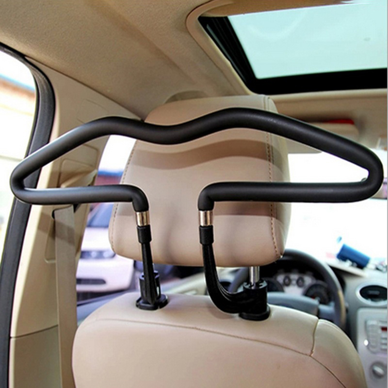 Car Clothes Holder Soft Car Coat Hangers Back Seat Headrest Coat Clothes Hanger Jackets Suits Holder Rack Car Supplies