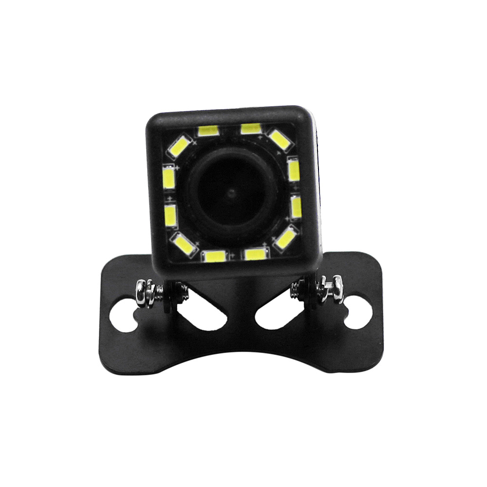12V Car Universal Reverse Image Webcam High-definition Fill Light Night Vision Plug-in Camera Car Mounted 12 Lamp Webcam
