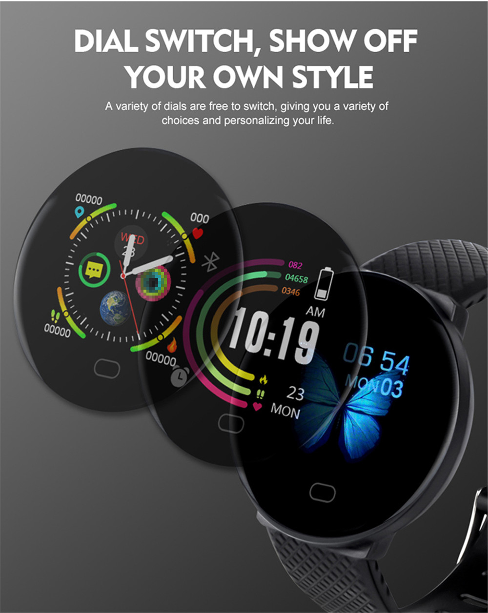 Hfeafb41308eb4a31bef57dce48691a20l Smart Bracelet 1.3'' Screen Pedometer Fitness Tracker Ip67 Waterproof Blood Pressure Heart Rate Monitor Smart Band Women Men
