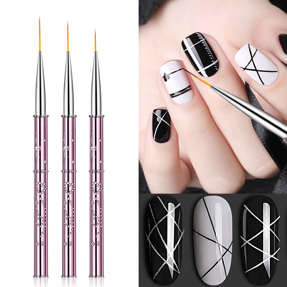1pc 100% Pure Kolinsky Nial Brush Art Liner Brush Paint Brush Nail Drawing Brush Painting Flower Manicure Brush Art Nail Pen