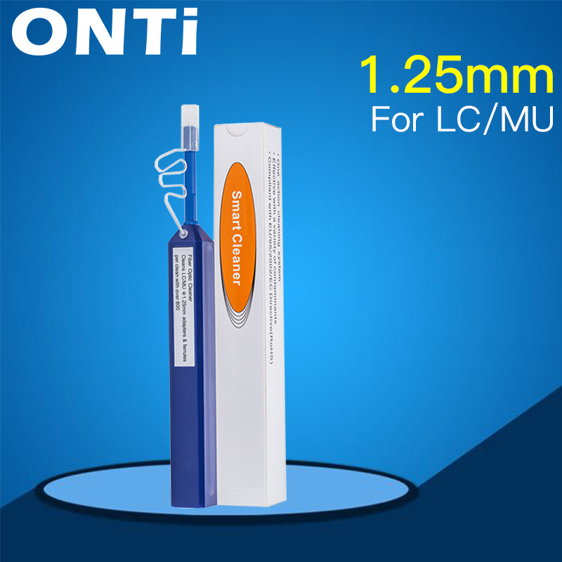 Image 3 - ONTi 2pcs One Click Cleaner Optical Fiber Cleaner Pen Cleans 2.5mm SC FC ST and 1.25mm LC MU Connector Over 800 TimesFiber Optic Equipments   - AliExpress