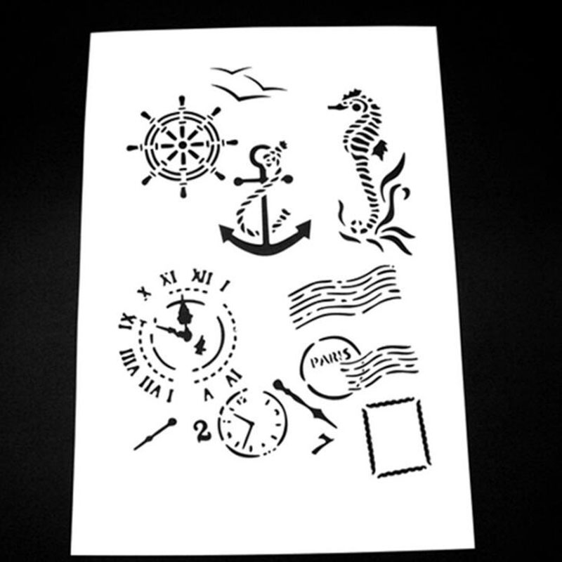 Reusable Stencils for Painting in Small /& Large Sizes Arrow Compass Stencil Template for Walls and Crafts