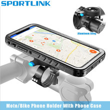 Motorcycle Bicycle Phone Holder Aluminum Bike Mount for iphone 12 11 Pro Max XS XR 6 7 8 Plus SE2020 Waterproof Mobile Case GPS