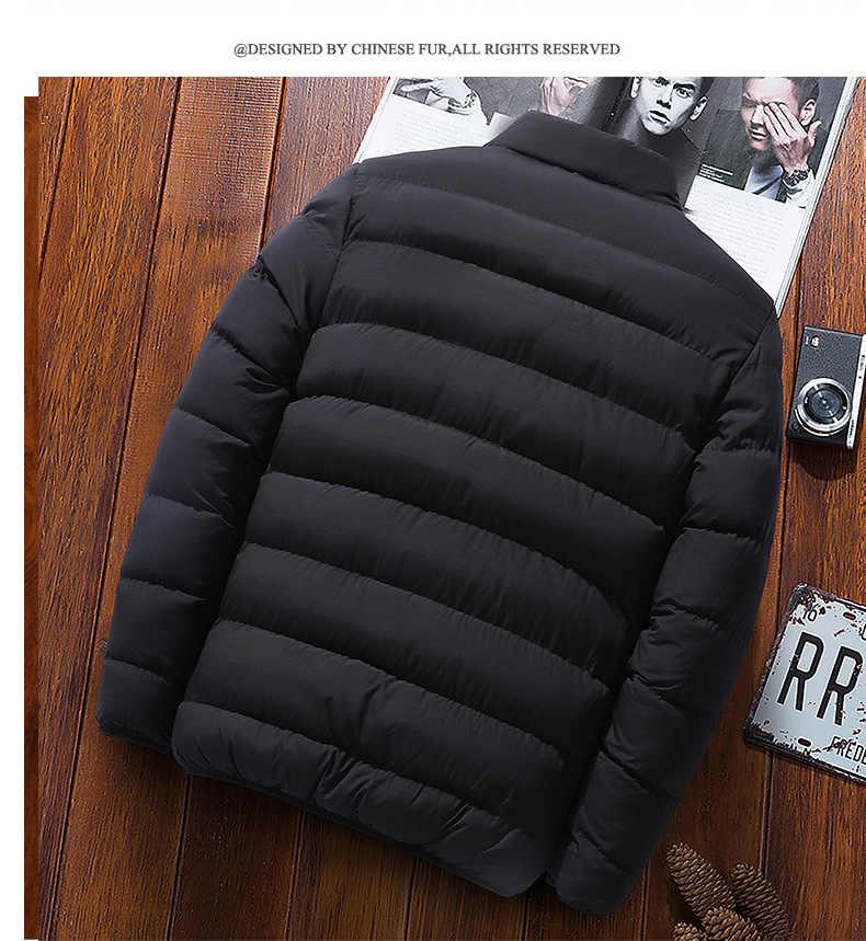 새로운 겨울 재킷 파카 남자 가을 겨울 따뜻한 아웃웨어 브랜드 슬림 망 코트 캐주얼 윈드 브레이커 고품질 재킷 남자