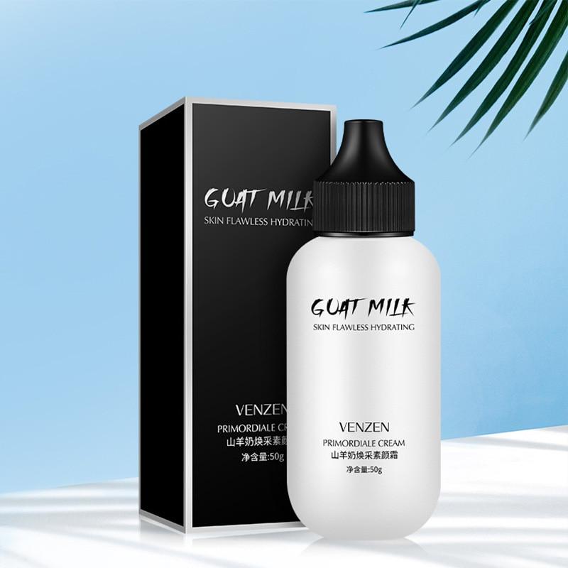Face Base Cream Goat Milk Natural Primer Foundation Concealer Refreshing Brighten Make Up Cosmetics