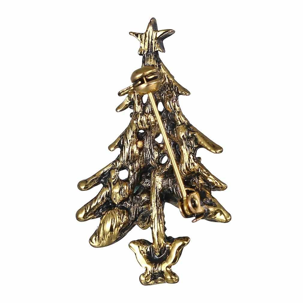 Di cristallo Spille Spille Unico Alla Moda di Natale Albero Di Natale Spilla Monili Per Le Donne Degli Uomini del Maglione Della Decorazione Di Natale Regali di Nuovo Anno