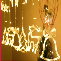 Bell/ Elk/Christmas Tree Shape Christmas LED Color Lights Decorate Sky Star Lamp Background Lights Free Shipping