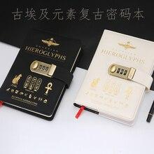 A5 coréia retro caderno senha livro com bloqueio criativo escola material de escritório papelaria diário pessoal capa planejador