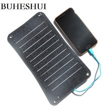 BUHESHUI Semi flexible Sunpower ETFE 10W 5v Solar Panel Charger  Solar Charger For Mobile Phone  Power Bank Free Shipping