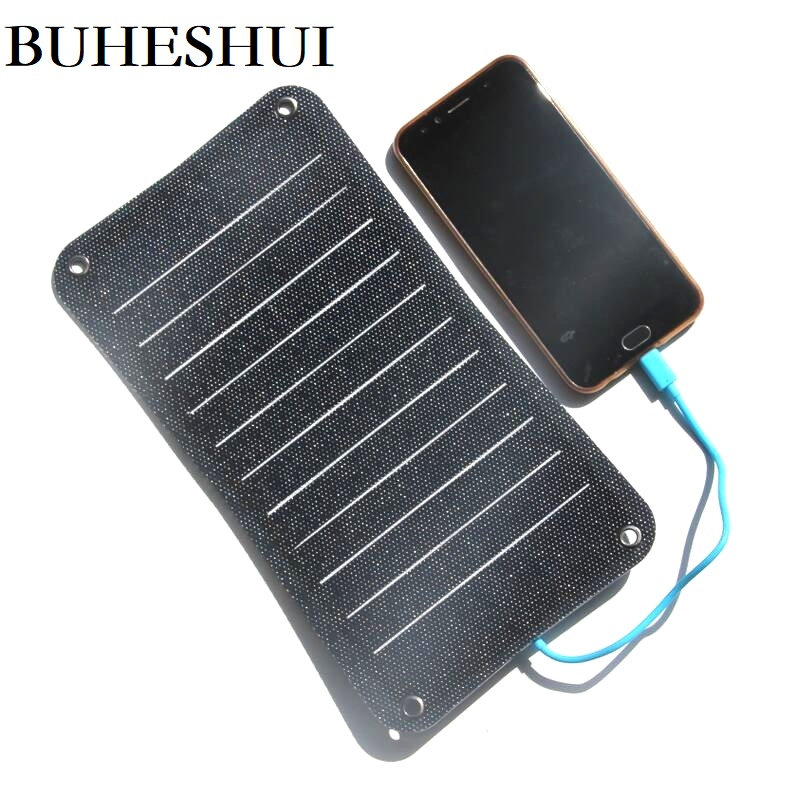 BUHESHUI Semi-flexible Sunpower ETFE 10W 5v Solar Panel Charger Solar Charger For Mobile Phone Power Bank Free Shipping image